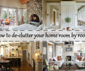 How To De Clutter Your Home Room By