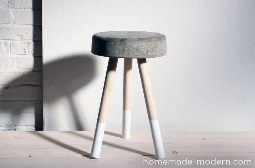 diy stools Inexpensive Cement Stool