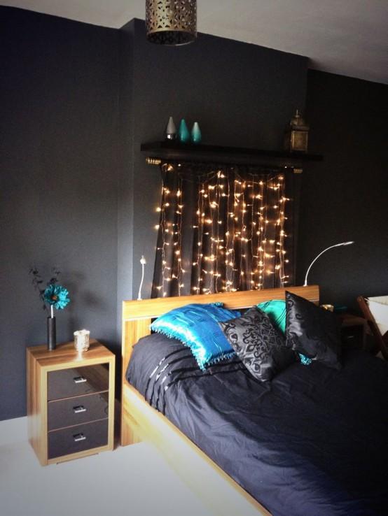 black bedroom walls Light It Up!