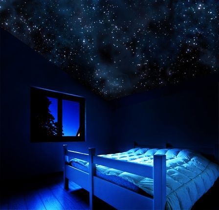 black bedroom walls Make Your Ceiling Into The Night Sky
