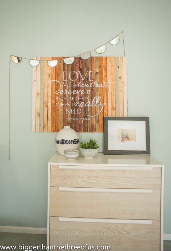 Ombre wood stencil art