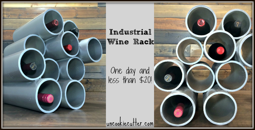 Pipes PVC wine rack