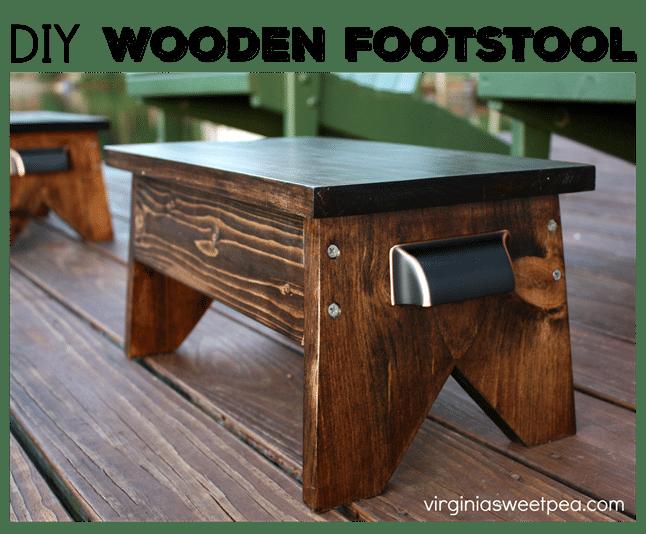 diy stool Rustic Wooden Footstool