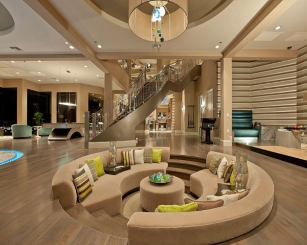 Curved Sunken Living Room. View In Gallery Part 4