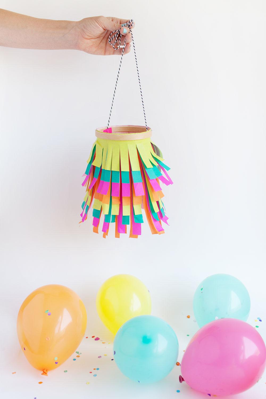 Tissue paper lanter hanging