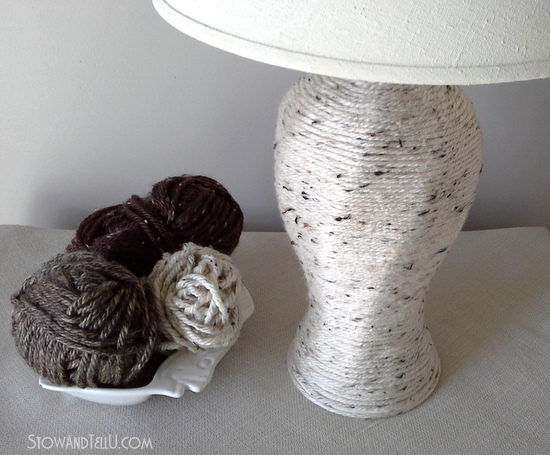 Yarn wrapper lamp base
