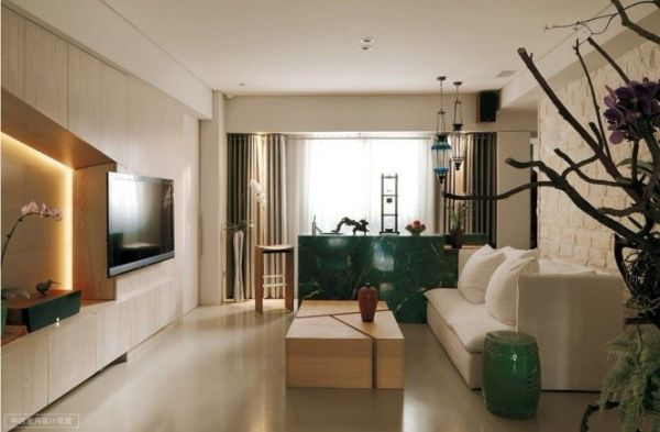 Modern apartment with an asian inspired interior