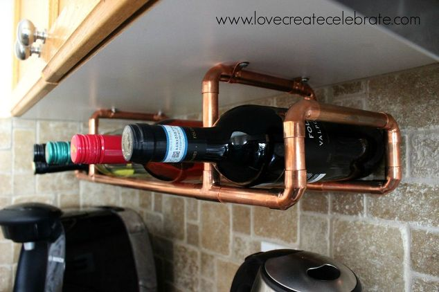 copper wine under cabinet