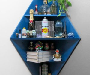 Chic 5-level diamond corner shelf