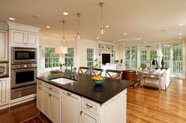Open Kitchen Designs Pleasing Five Beautiful Open Kitchen Interior Designs Inspiration