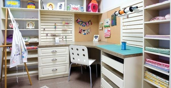 Beautiful craft room interior design ideas that make work easier