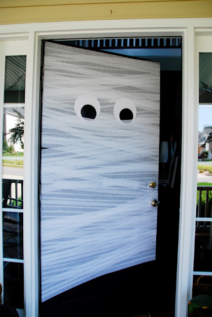 Image result for mummy wrapped front door