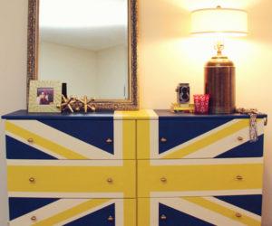 Personalized DIY Union Jack Dresser