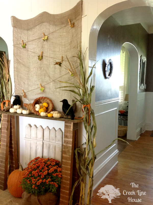 Good A Fall Décor For Your Fake Mantel Images