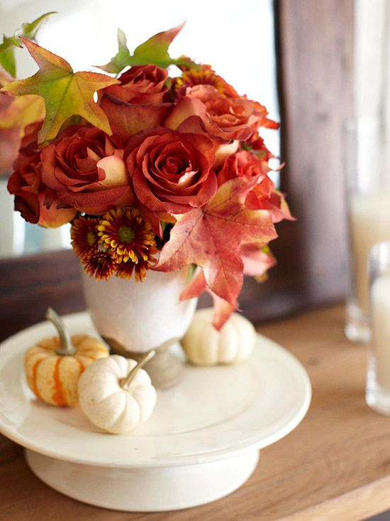 Using Gourds For A Fall Inspired Dining Table Centerpiece