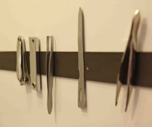 Organize Small Metal Items with Magnet Strips