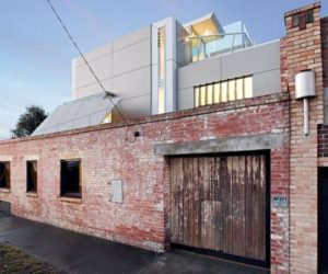 A fire station turned into a modern home