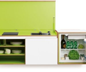 Miniki – a clever and bold solution for tiny kitchens