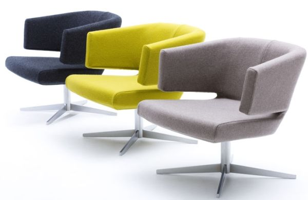 Elegant and colourful lounge chair for Modern sitting chairs