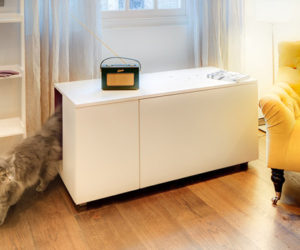 The Catteux litter box cabinet – for cats with style