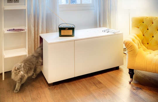 View In Gallery The Catteux Litter Box Cabinet