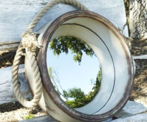 Nautical Style Porthole Mirror