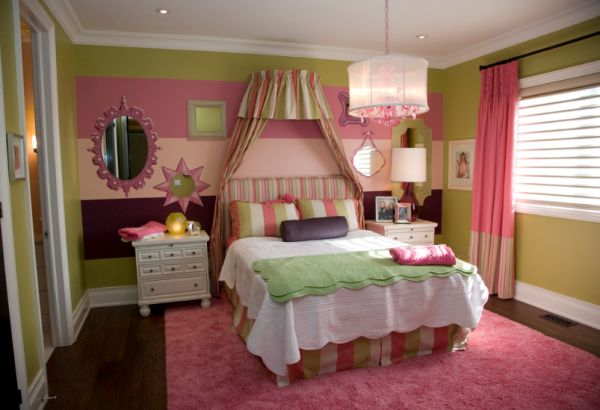 Bedroom Design Tips For A Young Girls Room - Pink and green bedroom ideas