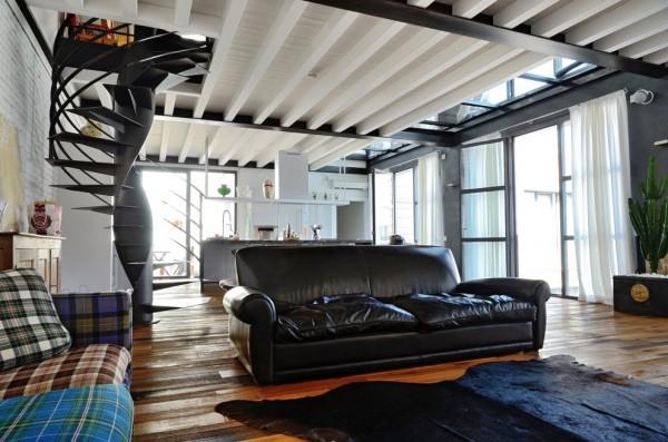 A beautifully restored loft in a former garage building from brescia - Interior design brescia ...