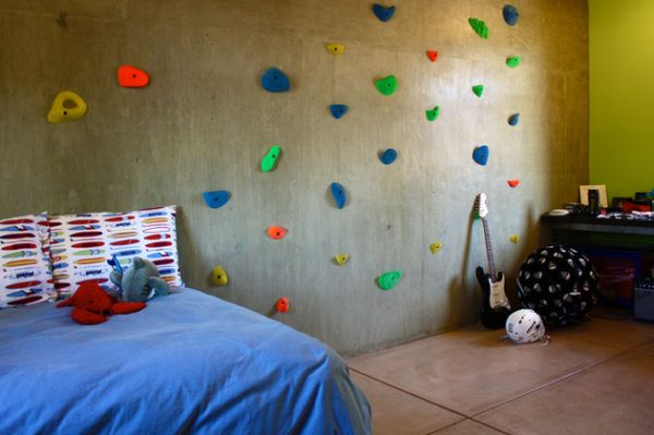 Good Modern Homes Featuring A Rock Climbing Wall