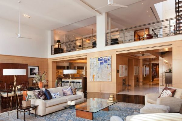 A four-bedroom penthouse with amazing skylights is now on sale