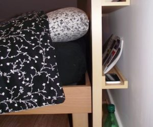 DIY headboard with clever storage spaces
