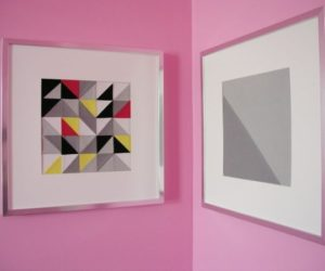DIY Framed Triangle Patchwork