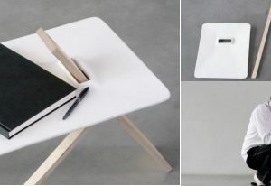 The minimalist Tripod side table by Noon Studio