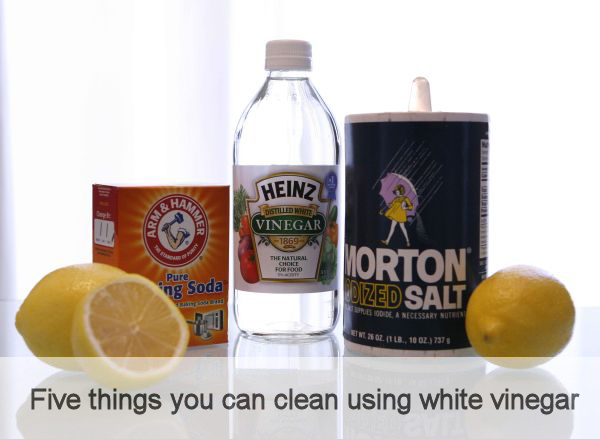 Five Things You Can Clean Using White Vinegar