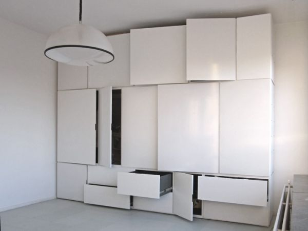 Wall Of Storage Glamorous The Minimalist Witjes Wall Storage System Decorating Inspiration