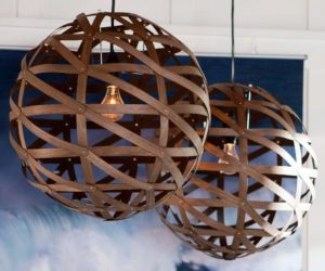 Beautiful Spherical Pendant Made of Veneer