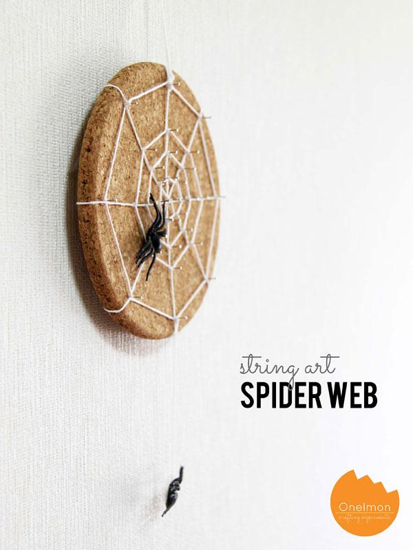 Cork string spider web