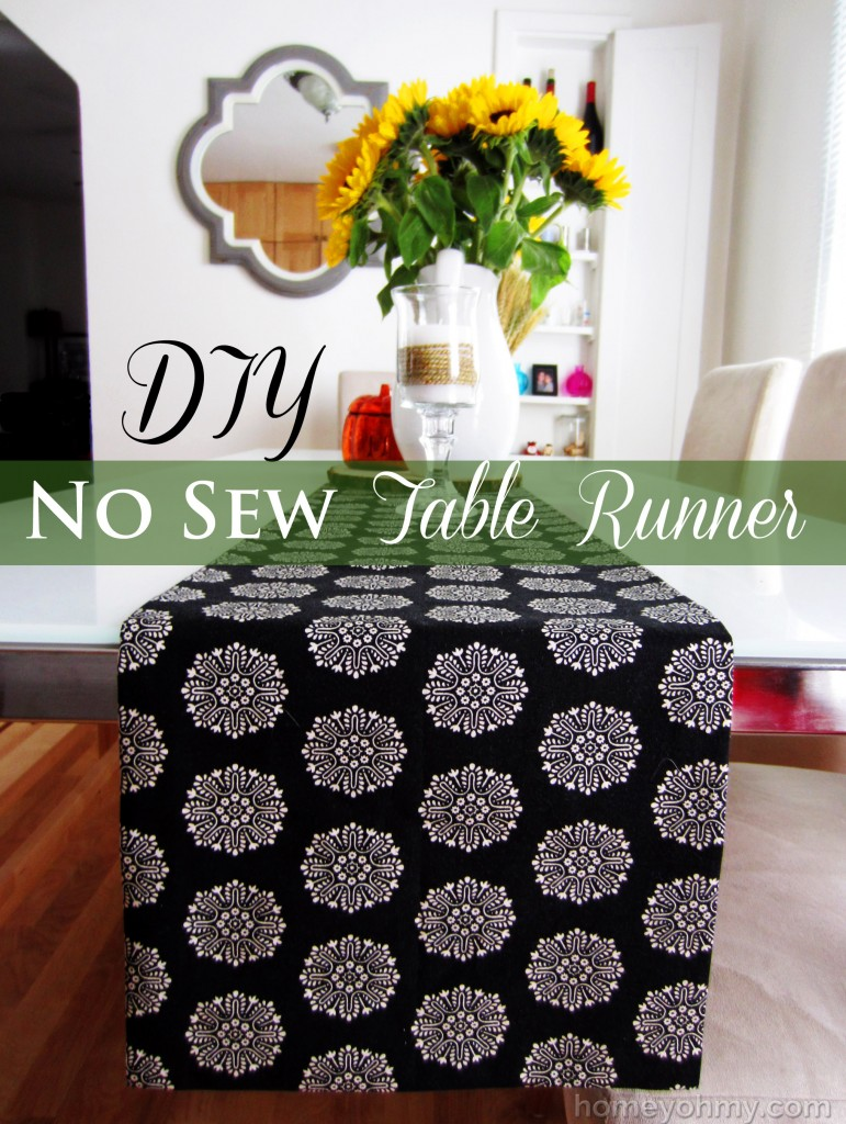 low cost house decor ideas Spice Up Your Table With A Runner