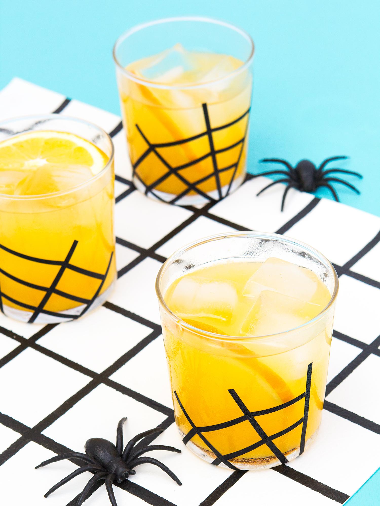 Spider web glassware