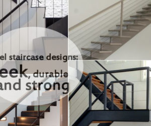 Charming 10 Steel Staircase Designs: Sleek, Durable And Strong Amazing Design