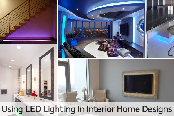 Using led lighting in interior home designs for Household lighting design