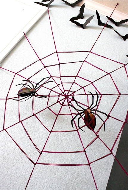 Wall spider web