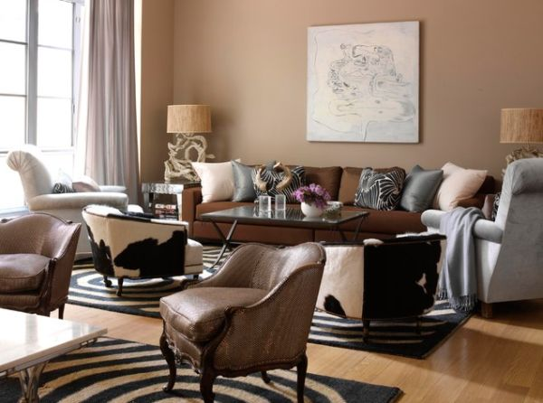 Ordinaire View In Gallery Elegant Living Room With Subtle Animal Print Inserts