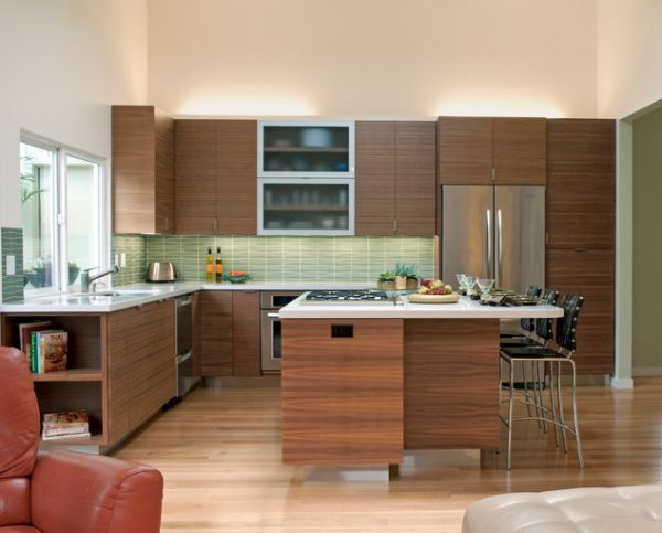 ... Airy Kitchen With Accent Floor Lighting View ...