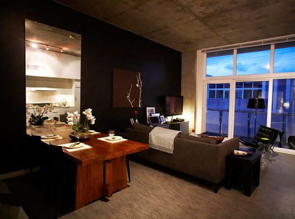 Uber cool bachelor interior. View in gallery