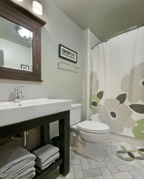view - Bathroom Designs With Shower Curtains