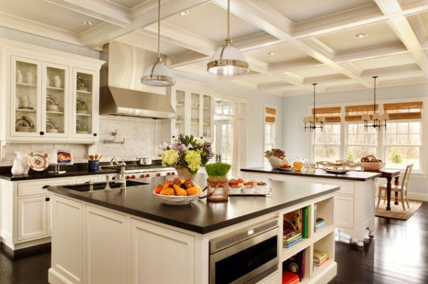 View in gallery Expansive kitchen with two island ...