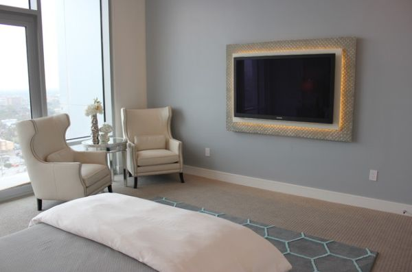 beautiful interiors featuring wall mounted tvs