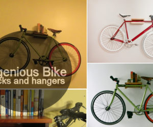 Take your bike off the floor with these ingenious racks and hangers