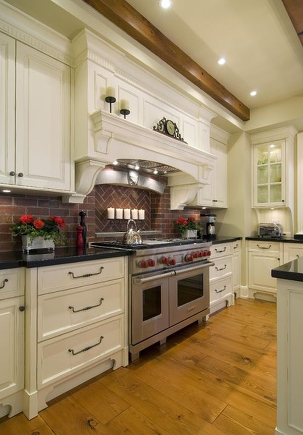... Brick Backsplash View ...